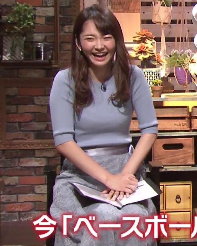 竹崎由佳アナ とてもいい感じのニットおっぱい♡キャプ・エロ画像8