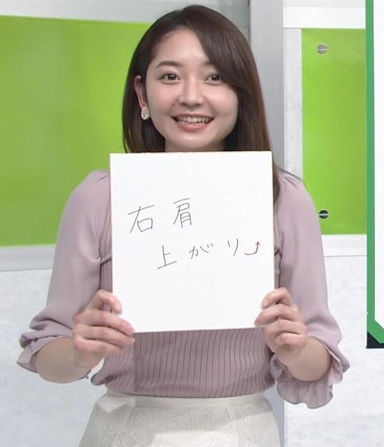 竹崎由佳アナ ニットおっぱいキャプ・エロ画像5
