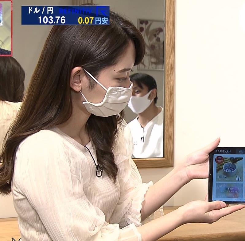 竹﨑由佳アナ 横乳キャプ・エロ画像5