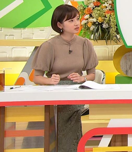 田中瞳アナ ニットおっぱいキャプ・エロ画像