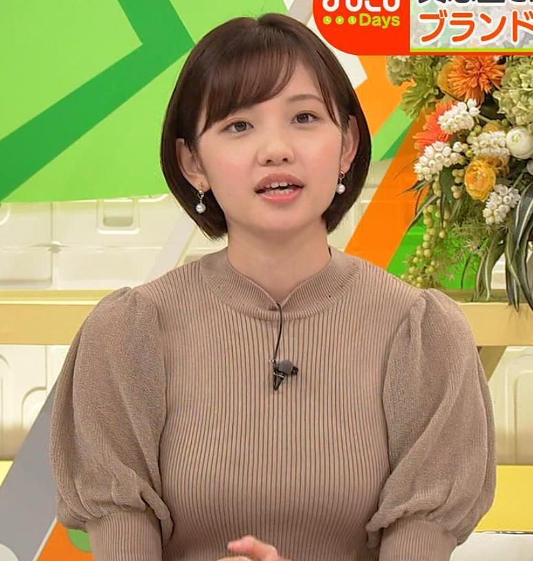 田中瞳アナ ニットおっぱいキャプ・エロ画像2