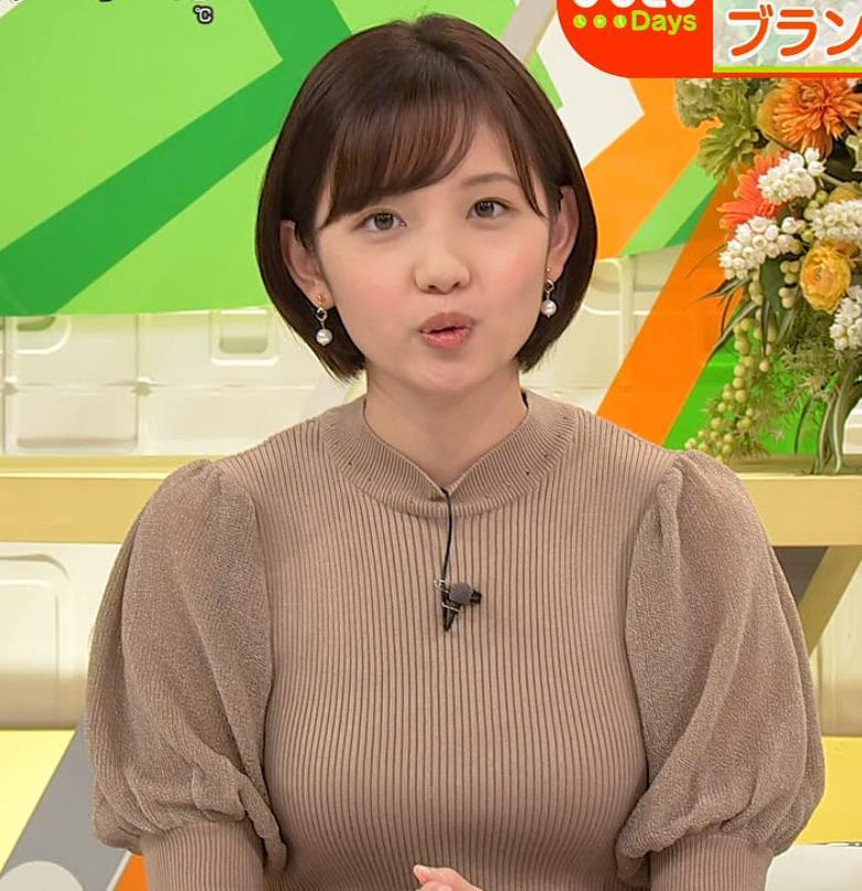 田中瞳アナ ニットおっぱいキャプ・エロ画像3