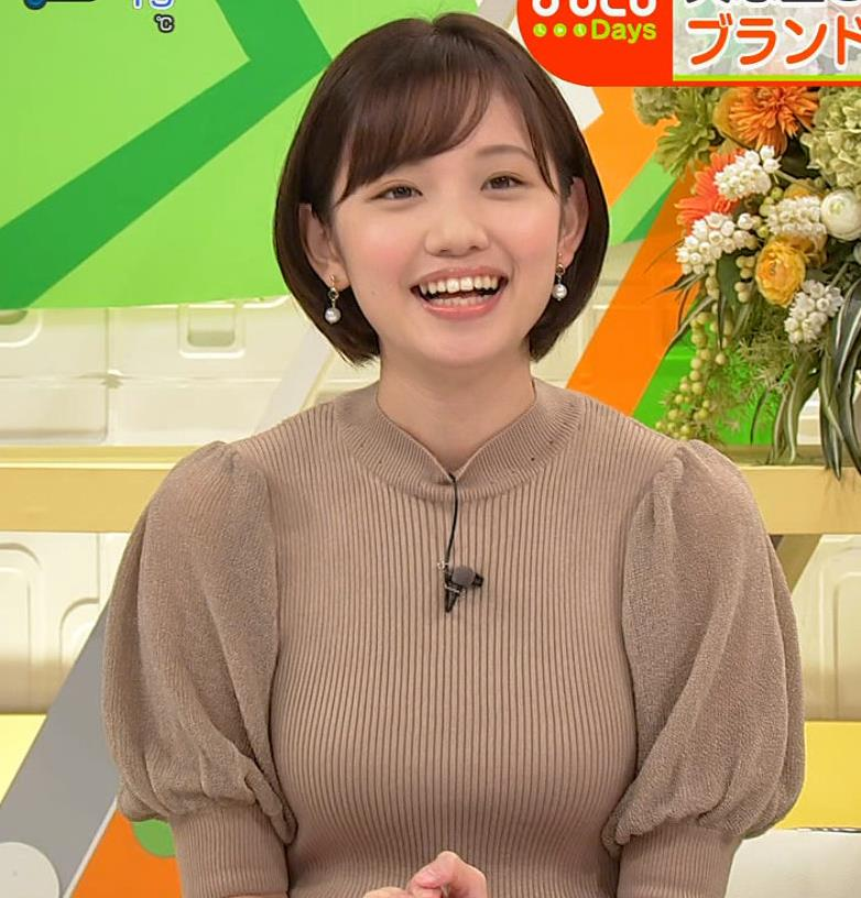田中瞳アナ ニットおっぱいキャプ・エロ画像4