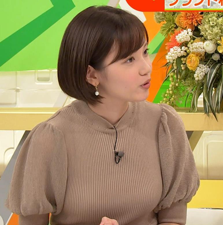 田中瞳アナ ニットおっぱいキャプ・エロ画像5