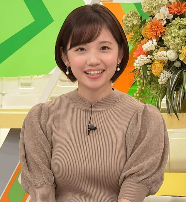 田中瞳アナ ニットおっぱいキャプ・エロ画像9