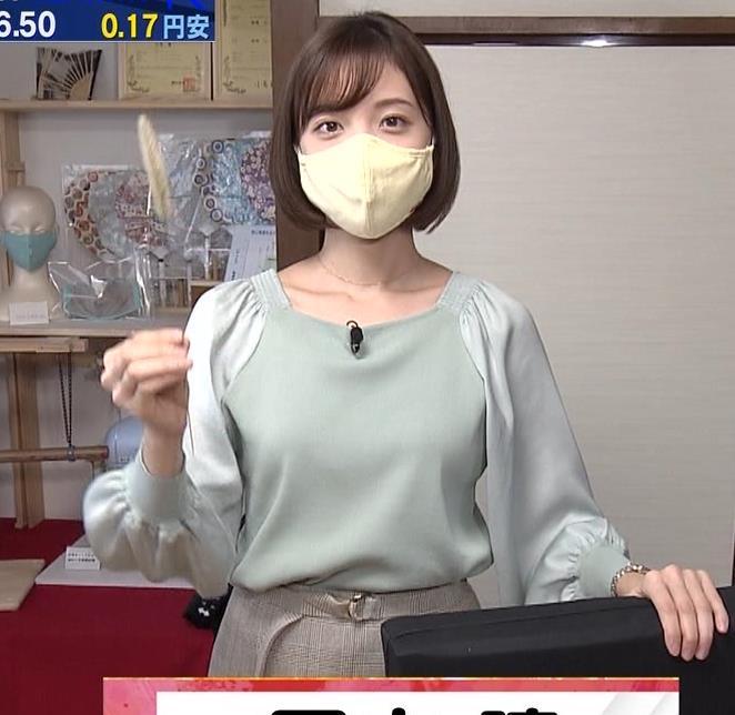 田中瞳アナ 横乳キャプ・エロ画像2