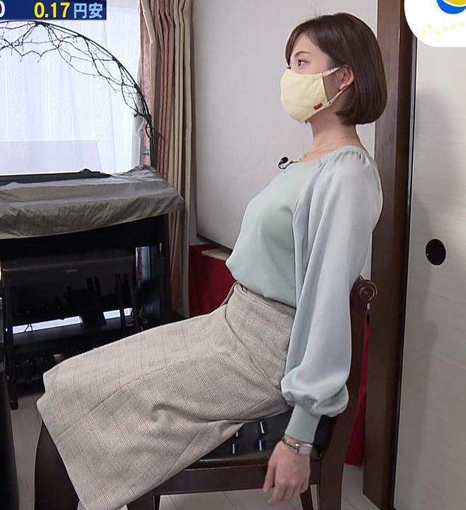 田中瞳アナ 横乳キャプ・エロ画像3