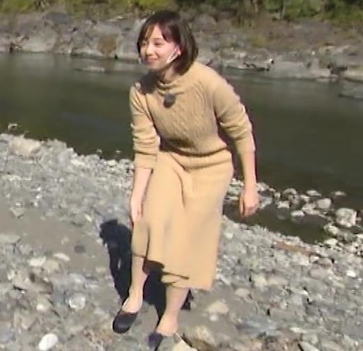 田中瞳アナ ワンピースお尻キャプ・エロ画像12