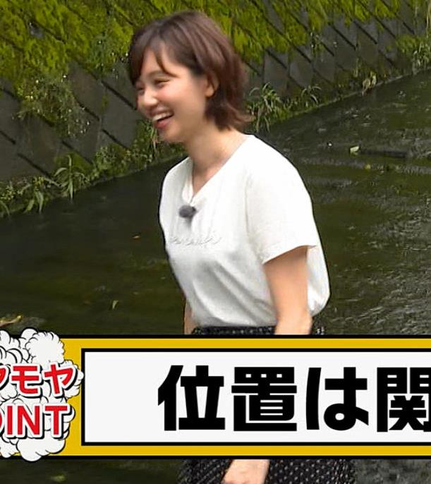 田中瞳アナ Tシャツ横乳キャプ・エロ画像