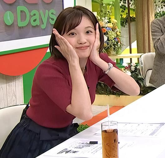 田中瞳アナ かわいい女子アナのニットおっぱい♡キャプ・エロ画像2