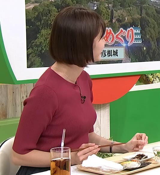 田中瞳アナ かわいい女子アナのニットおっぱい♡キャプ・エロ画像4