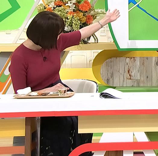 田中瞳アナ かわいい女子アナのニットおっぱい♡キャプ・エロ画像5