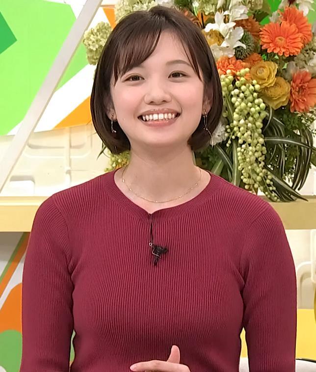 田中瞳アナ かわいい女子アナのニットおっぱい♡キャプ・エロ画像6