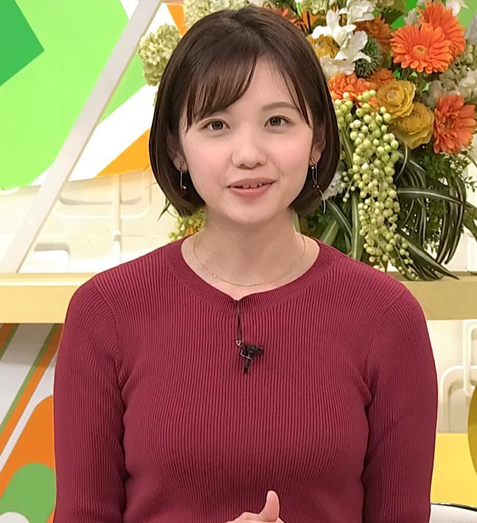 田中瞳アナ かわいい女子アナのニットおっぱい♡キャプ・エロ画像7