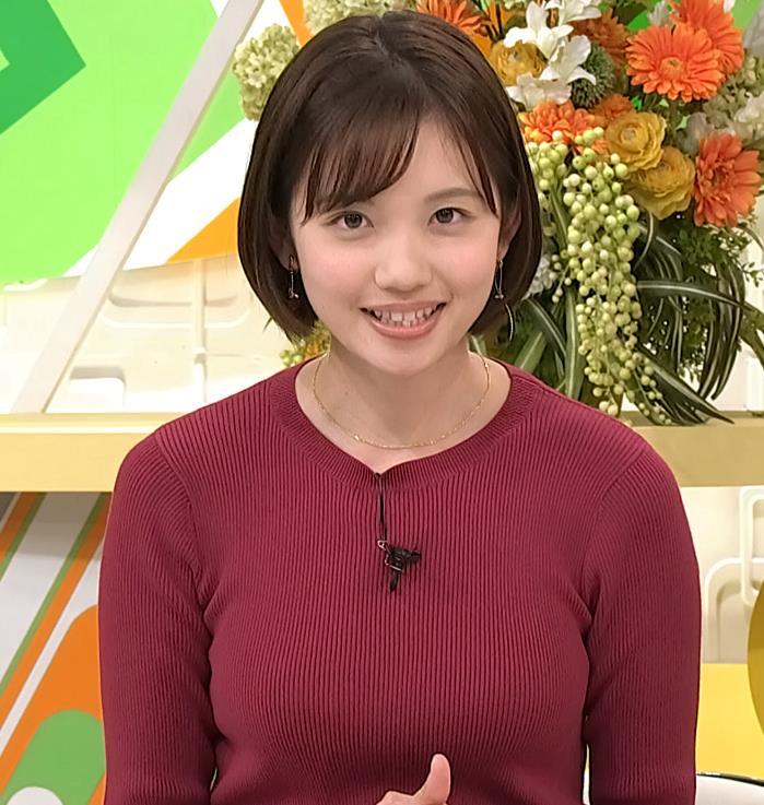 田中瞳アナ かわいい女子アナのニットおっぱい♡キャプ・エロ画像8