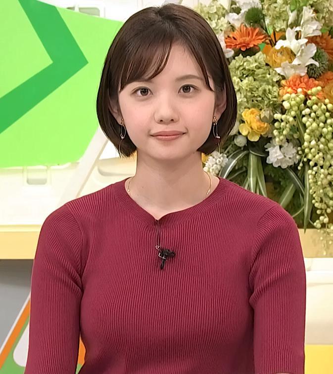 田中瞳アナ かわいい女子アナのニットおっぱい♡キャプ・エロ画像9