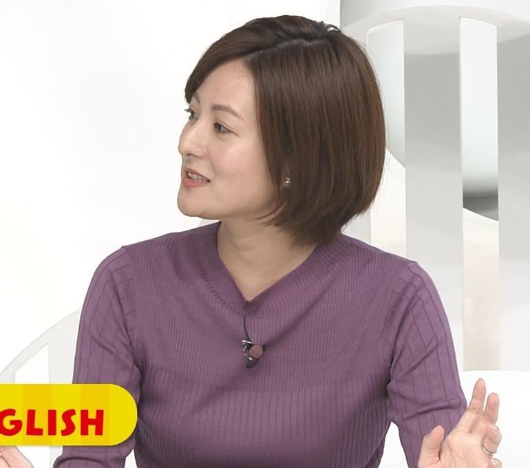 徳島えりかアナ ニットおっぱいキャプ・エロ画像2