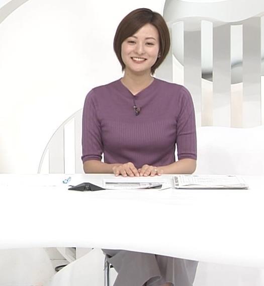 徳島えりかアナ ニットおっぱいキャプ・エロ画像3