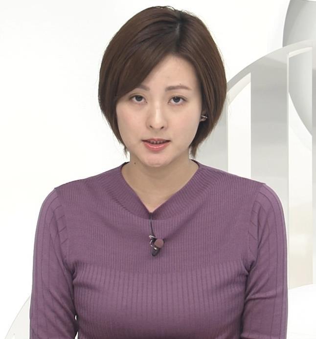 徳島えりかアナ ニットおっぱいキャプ・エロ画像4