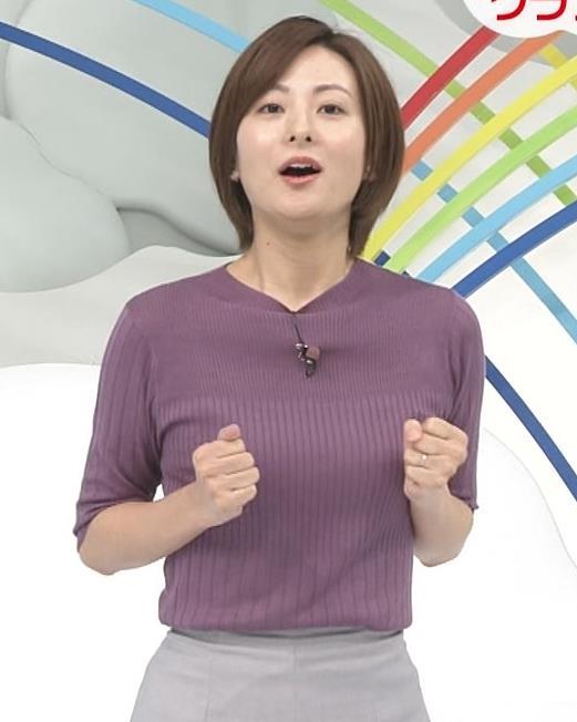 徳島えりかアナ ニットおっぱいキャプ・エロ画像10