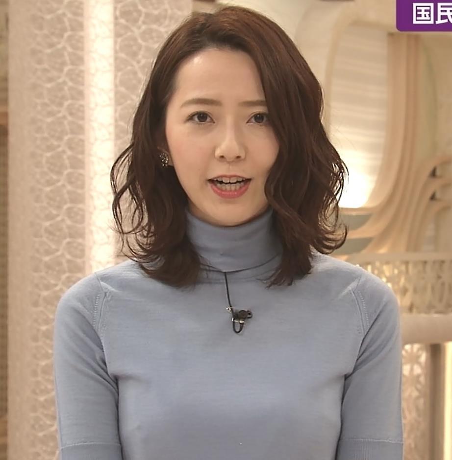 内田嶺衣奈アナ 美人アナのニットおっぱい♡キャプ・エロ画像4