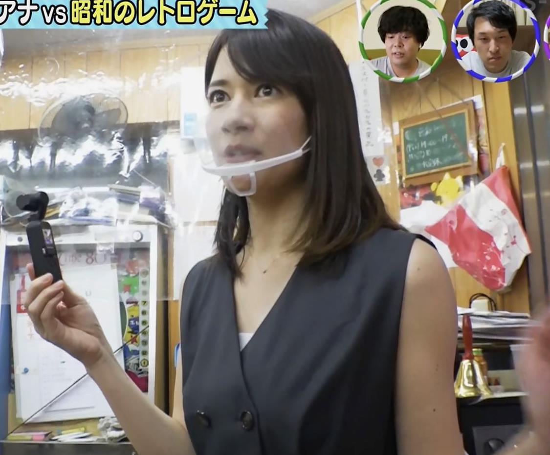宇内梨沙アナ ワキ全開キャプ・エロ画像3