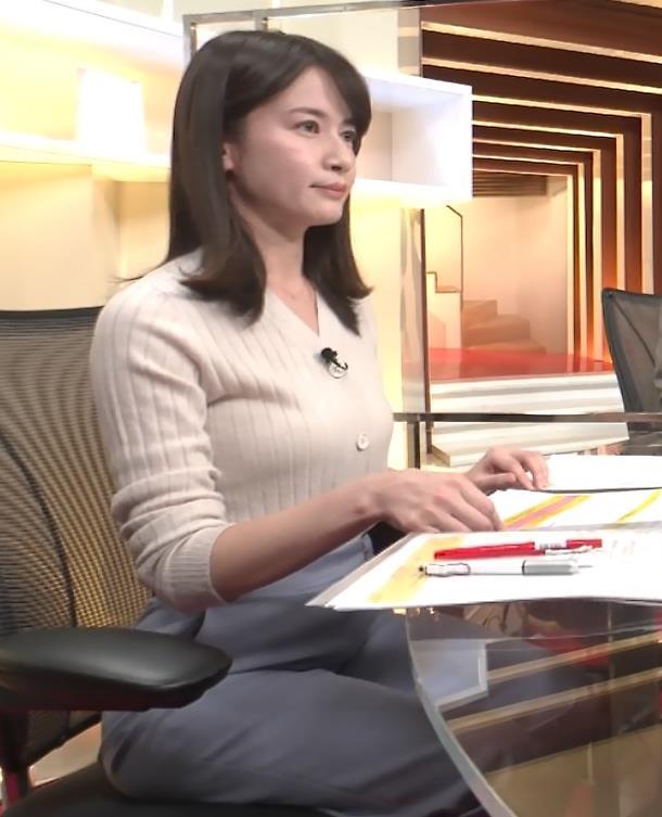 宇内梨沙アナ ニットおっぱいキャプ・エロ画像4
