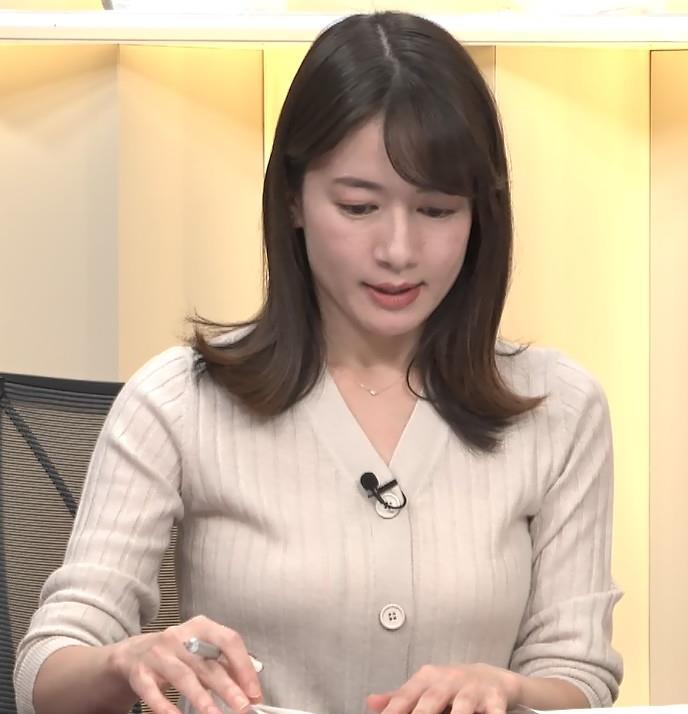 宇内梨沙アナ ニットおっぱいキャプ・エロ画像6
