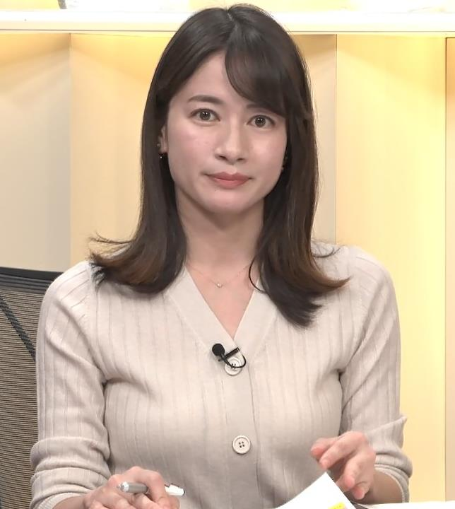宇内梨沙アナ ニットおっぱいキャプ・エロ画像7