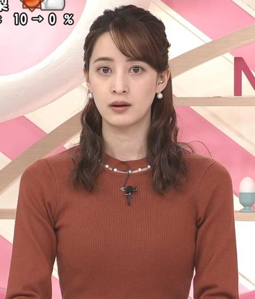 後呂有紗アナ ピチピチなニットキャプ画像(エロ・アイコラ画像)