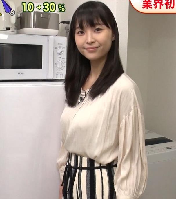 渡邊渚アナ ゆったり衣装でも巨乳だとわかるキャプ・エロ画像2