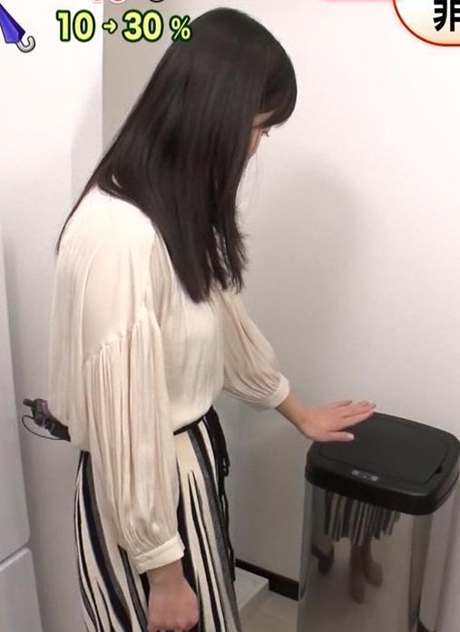 渡邊渚アナ ゆったり衣装でも巨乳だとわかるキャプ・エロ画像3