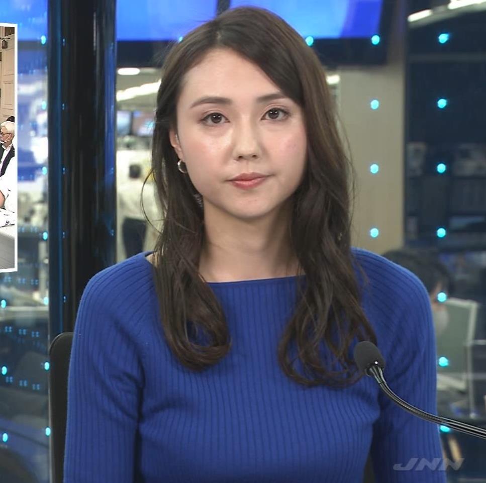 山形純菜アナ ニットおっぱいキャプ・エロ画像3