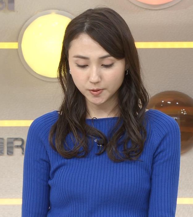 山形純菜アナ ニットおっぱいキャプ・エロ画像7