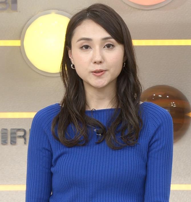 山形純菜アナ ニットおっぱいキャプ・エロ画像8
