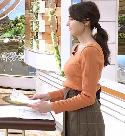 山形純菜アナ ニットおっぱい、横乳キャプ・エロ画像4