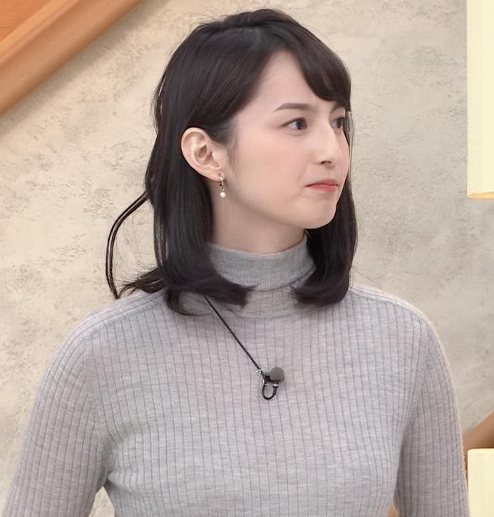 山本恵里伽 美人アナのエッチなニットおっぱいキャプ・エロ画像12