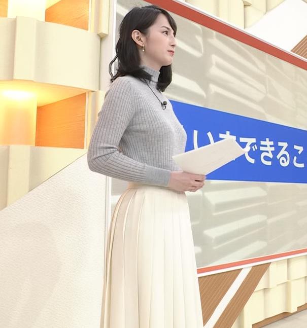 山本恵里伽 美人アナのエッチなニットおっぱいキャプ・エロ画像13