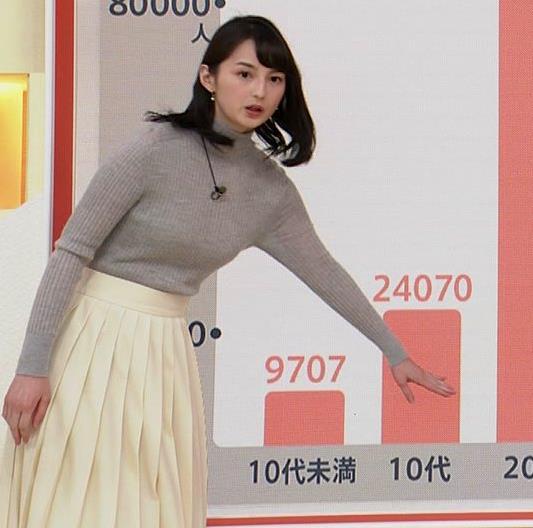山本恵里伽 美人アナのエッチなニットおっぱいキャプ・エロ画像3