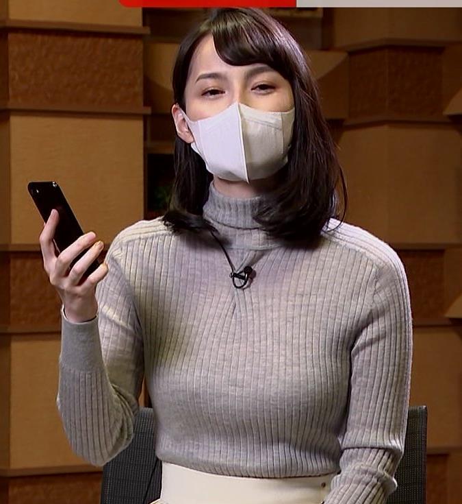 山本恵里伽 美人アナのエッチなニットおっぱいキャプ・エロ画像6