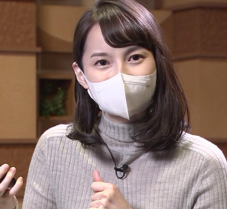 山本恵里伽 美人アナのエッチなニットおっぱいキャプ・エロ画像7