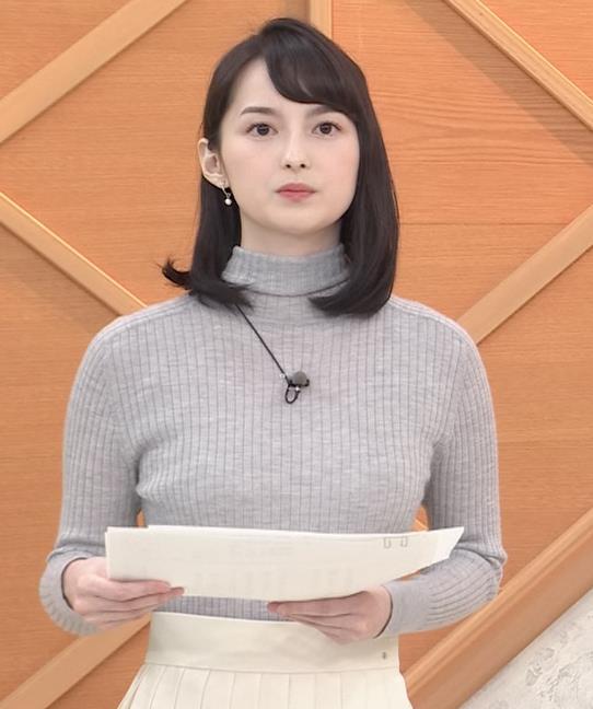 山本恵里伽 美人アナのエッチなニットおっぱいキャプ・エロ画像8