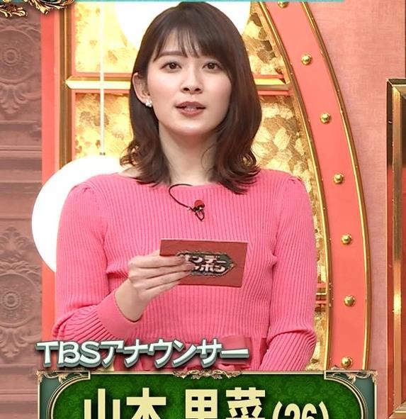 山本里菜アナ ニット横乳キャプ・エロ画像