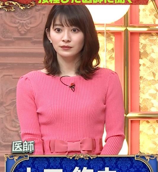 山本里菜アナ ニット横乳キャプ・エロ画像4