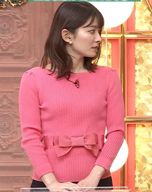 山本里菜アナ ニット横乳キャプ・エロ画像5