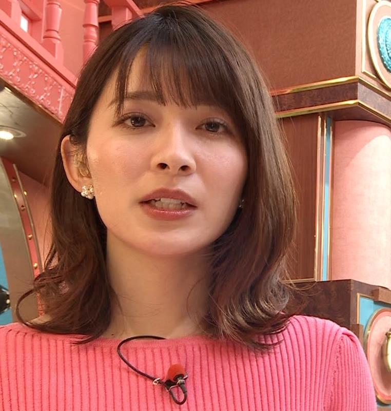 山本里菜アナ ニット横乳キャプ・エロ画像7