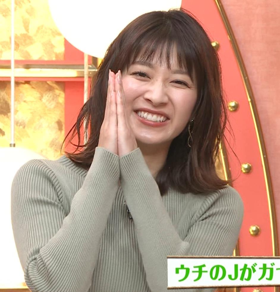 山本里菜アナ ニットで巨乳がクッキリキャプ・エロ画像13