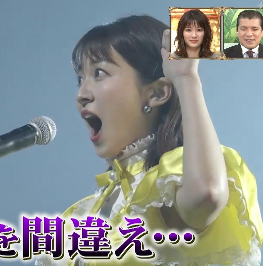 山本里菜アナ ニットで巨乳がクッキリキャプ・エロ画像19