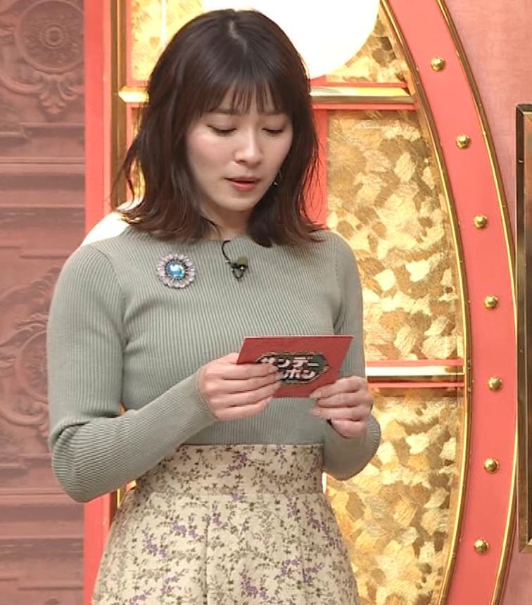 山本里菜アナ ニットで巨乳がクッキリキャプ・エロ画像3