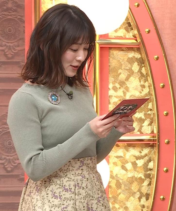 山本里菜アナ ニットで巨乳がクッキリキャプ・エロ画像7